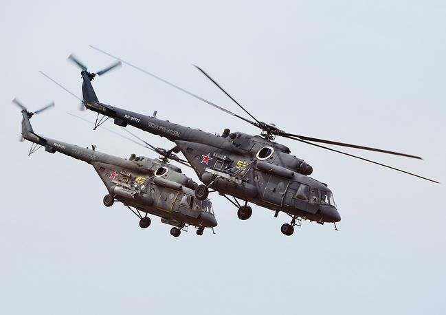 """Ми-8АМТШ (по классификации NATO: Hip), получивший прозвище """"Терминатор"""", относится к семейству многоцелевых вертолетов разработки ОКБ им. М.Л. Миля. Универсальность и высокие летно-технические характеристики сделали вертолеты Ми-8 одними из самых популярных в мире российских вертолетов. Выпущено более 12 тысяч экземпляров. Разработано более 130 модификаций Ми-8, включая значительно модернизированные варианты (Ми-8МТ, Ми-8АМТШ, Ми-17, Ми-171) для гражданских и военных эксплуатантов. Вертолеты этой модели используются более чем в 90 странах мира"""