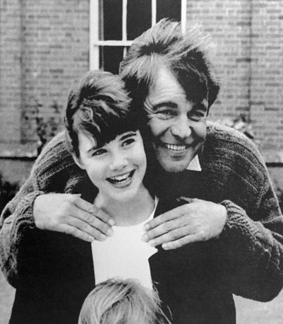 Саманта Смит и актер Роберт Вагнер во время совместных съемок в телевизионном фильме. США, август 1985 года