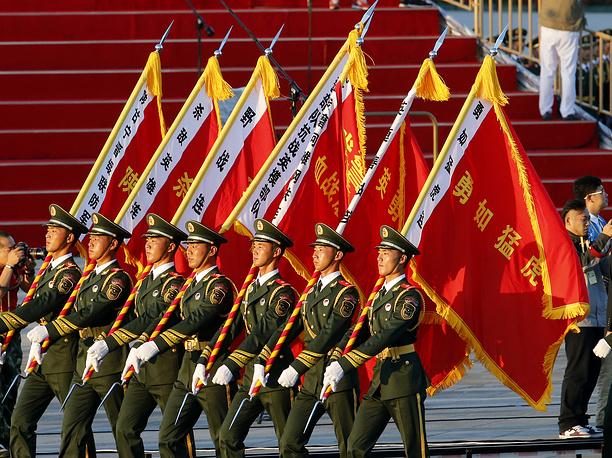 В параде также приняли участие военные из 17 стран. На фото: военный парад в Пекине