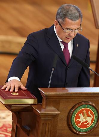 Избранный глава Республики Татарстан Рустам Минниханов