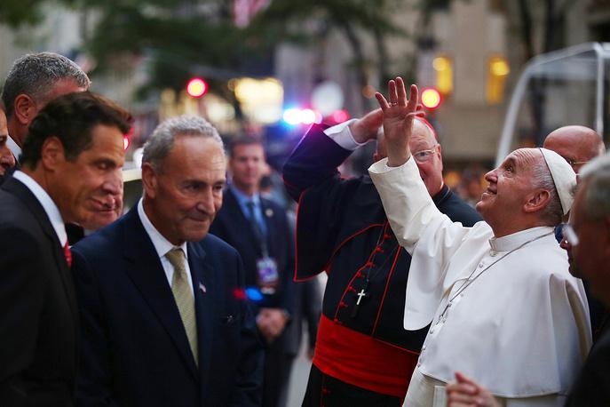 Папа римский Франциск в Нью-Йорке, 24 сентября