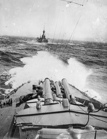 Бой в Атлантическом океане, орудия HMS Audacious. 1914 год