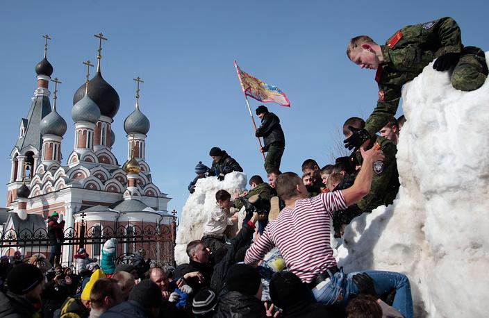 Народные гуляния в Новосибирске