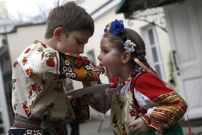 """Москва. Празднование Масленицы в ресторане """"Гусятникоff"""""""