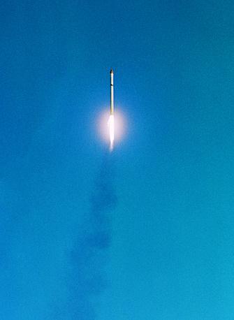 """Старт ракеты-носителя со спутником """"Интеркосмос-1"""" с полигона Капустин Яр, 1969 г."""