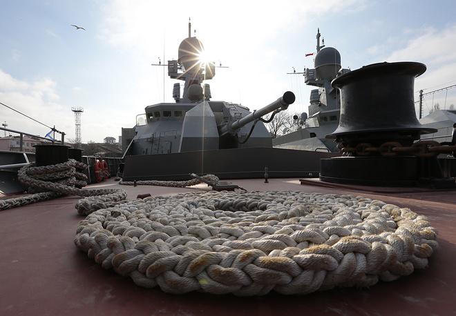 """На палубе сторожевого корабля проекта 11661К """"Дагестан"""""""