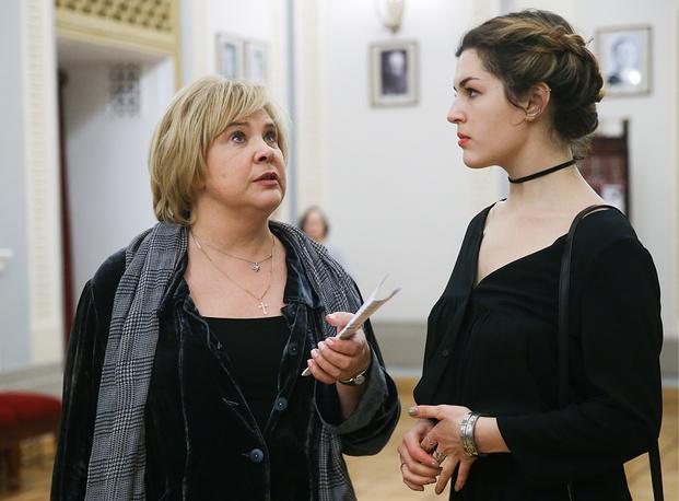 Актриса Татьяна Догилева с дочерью Екатериной