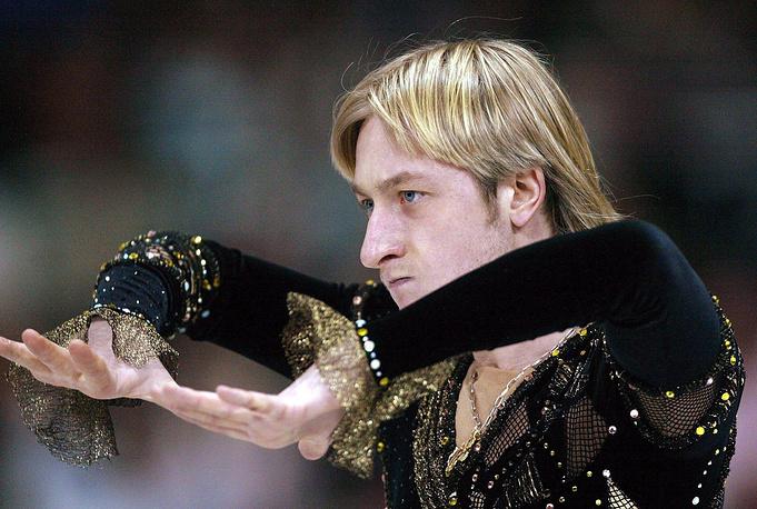Во время чемпионата мира по фигурному катанию в Германии, 2004 год