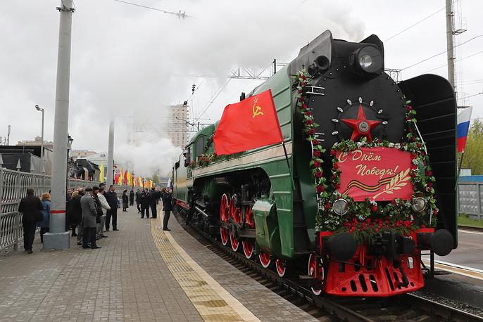 """Акция """"Поезд Победы"""" в Москве"""