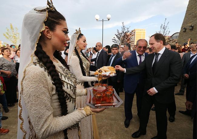 Во время встречи мэра Дербента Малика Баглиева и министра по делам Северного Кавказа Льва Кузнецова