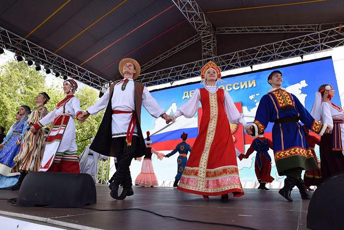 Празднование Дня России в Тюмени