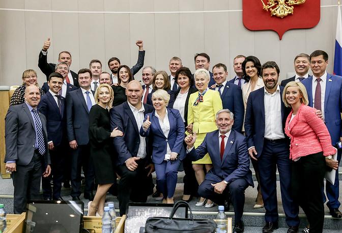 Депутаты Госдумы РФ на последнем пленарном заседании весенней сессии Государственной думы РФ