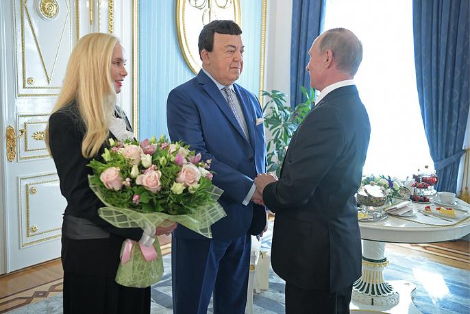 Нинель Кобзон, Иосиф Кобзон и президент РФ Владимир Путин