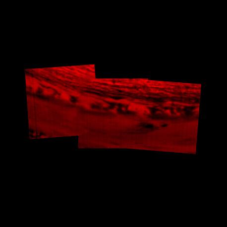 Область Сатурна, где Cassini 15 сентября вошел в атмосферу планеты и сгорел
