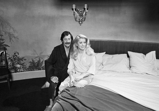"""С Катрин Денев во время съемок фильма """"Смелей, бежим!"""", 1979 год"""