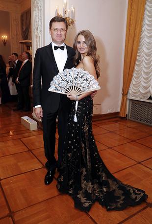 Министр энергетики РФ Александр Новак с дочерью Алиной