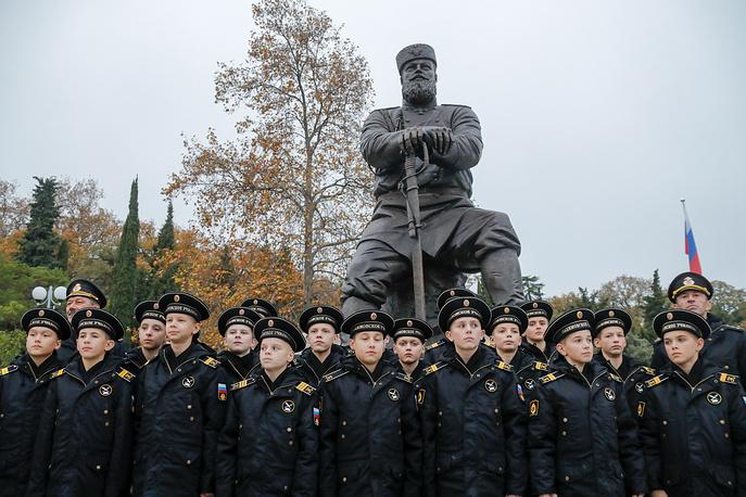 Воспитанники филиала Нахимовского военно-морского училища (Севастопольского президентского кадетского училища)