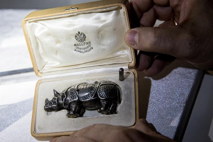 Модель носорога с заводным механизмом, фирма Фаберже. Аукционный дом Christie's