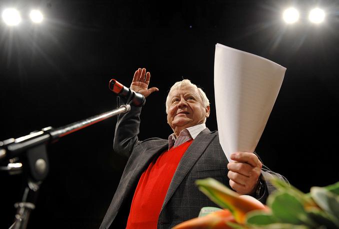 Художественный руководитель театра МХТ имени Чехова Олег Табаков, 2009 год