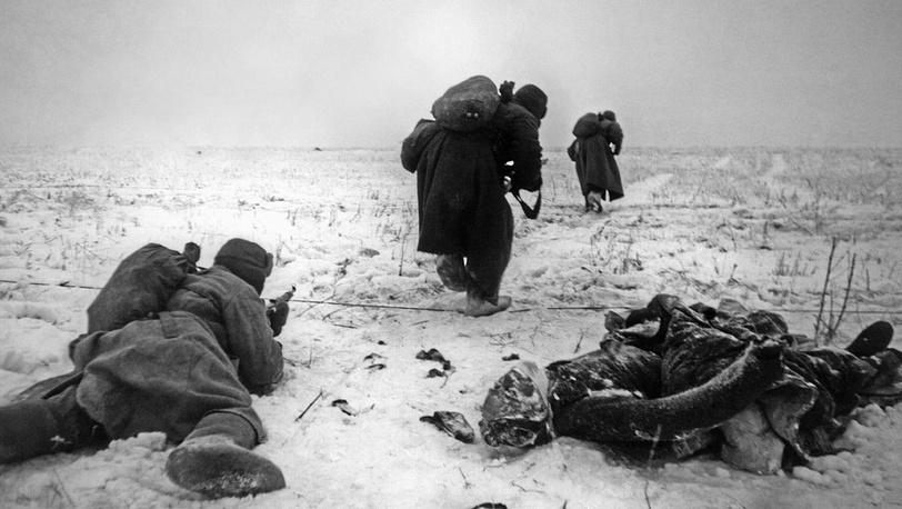 На огневом рубеже в районе Сталинграда