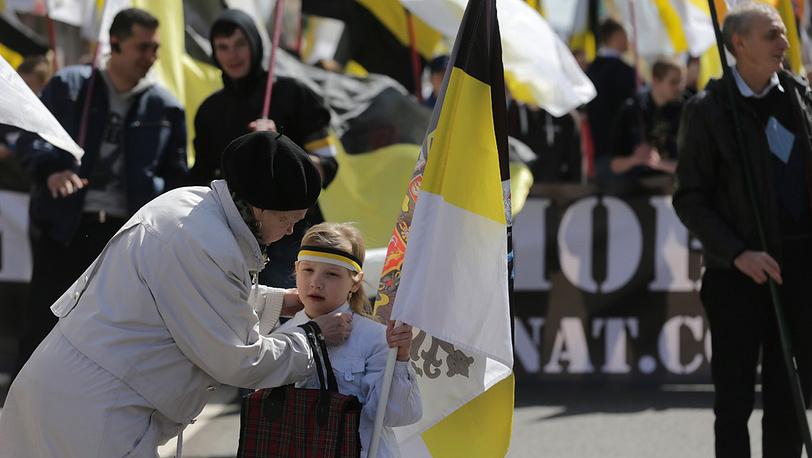 Акция националистов. Москва