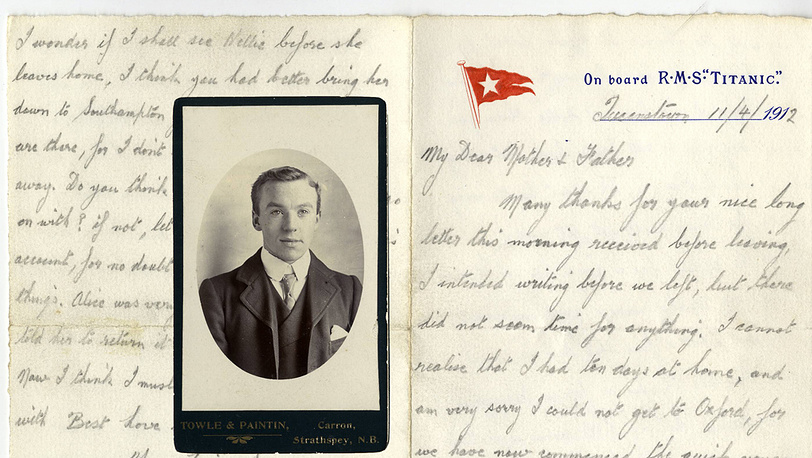 "Письмо Джеймса Пеинтина, личного стюарда капитана ""Титаника"""