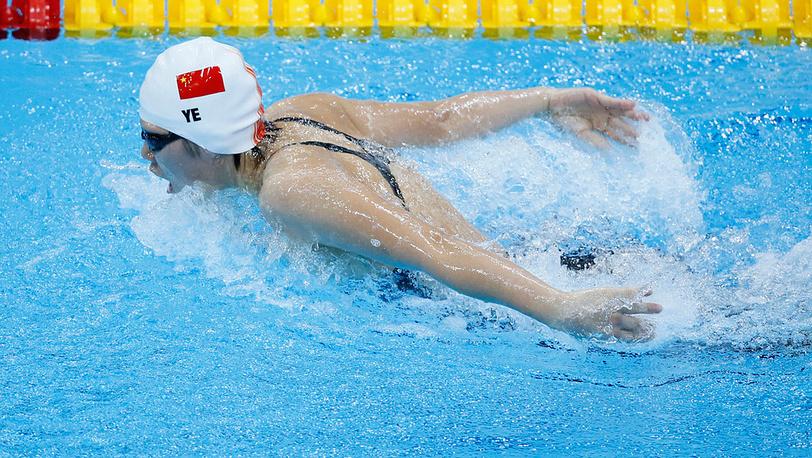 Китаянка Е Шивэнь на Играх-2012 установила мировой рекорд на 400 метров комплексным плаванием