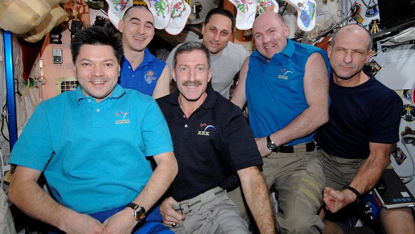 Экипаж МКС-30 в полном составе