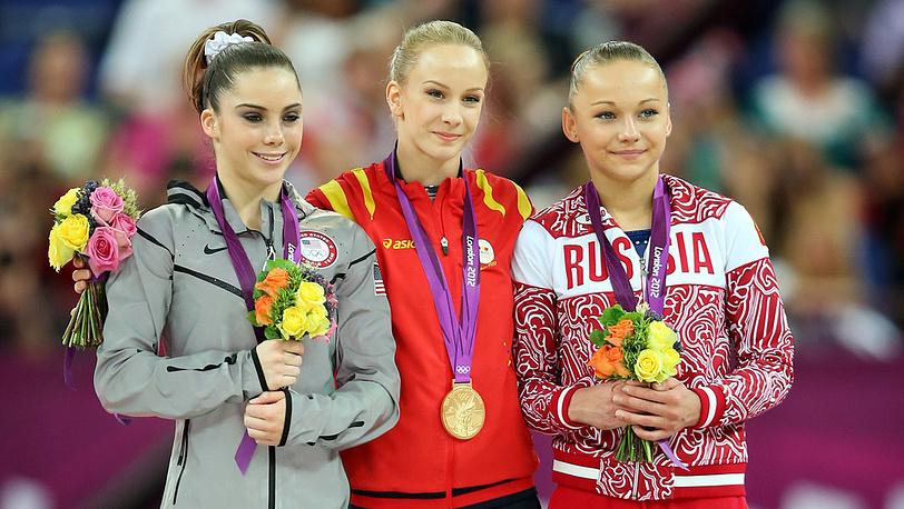 Американка Маккейла Мэрони, румынка Сандра Избаса и россиянка Мария Пасека