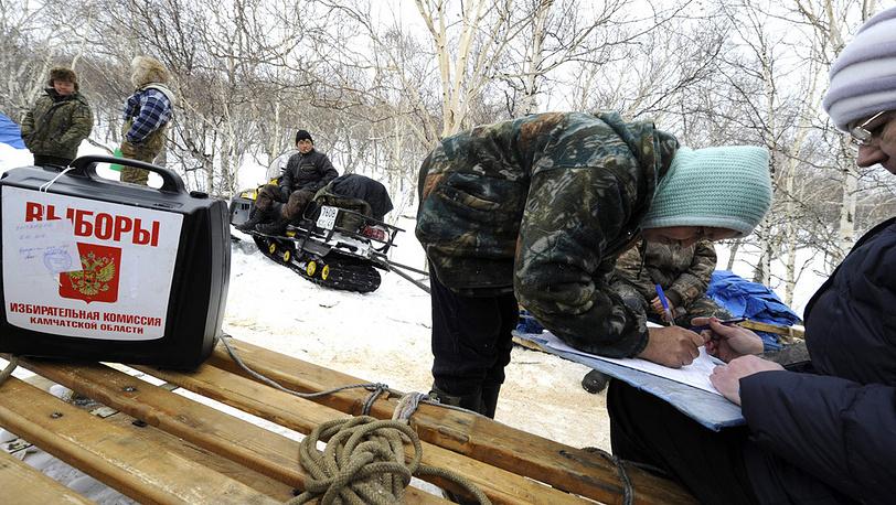 Досрочное голосование в отдаленном районе Камчатского края