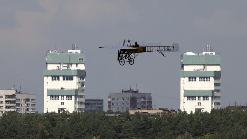 """Самолет-биплан довоенного периода """"Фарман IV"""""""