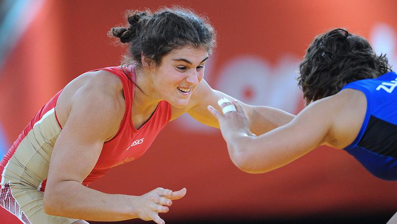 Н. Воробьева - первая российская олимпийская чемпионка в женской борьбе