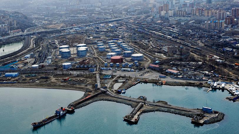 Вид Владивостока с вертолета