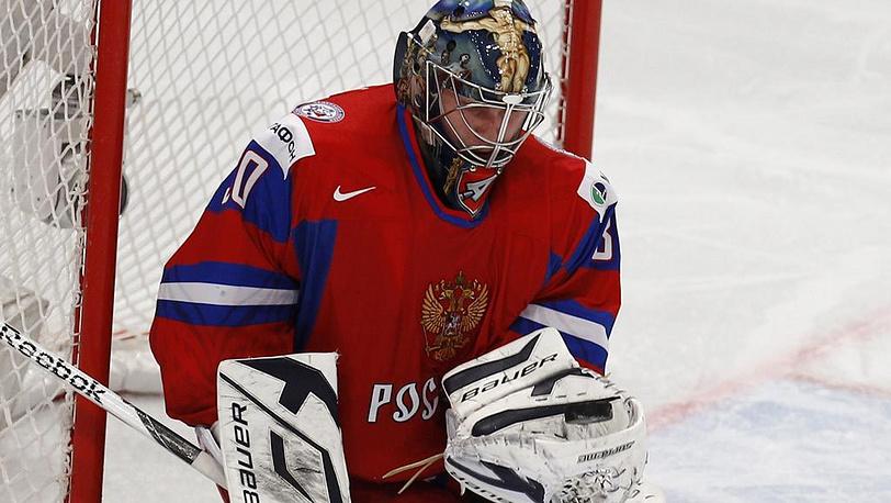 Вратарь сборной России Константин Барулин