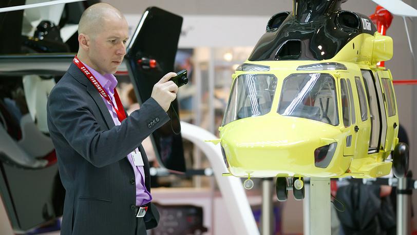 Модель AW-139 на выставке HeliRussia-2012