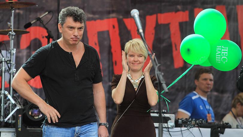 Б. Немцов и Е. Чирикова