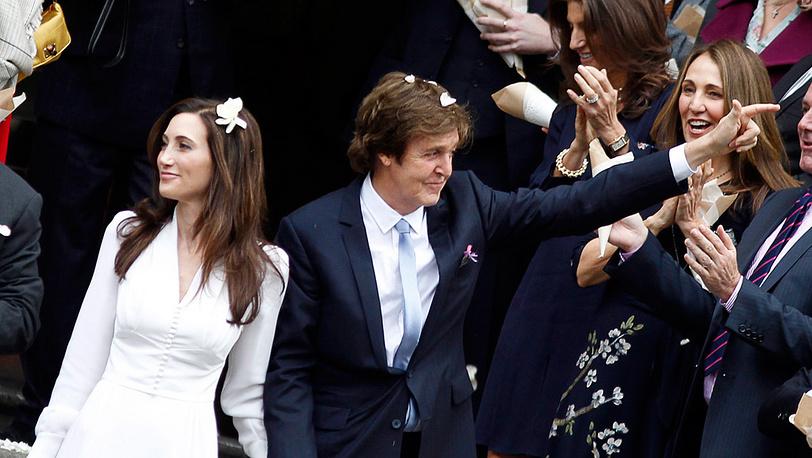 Свадьба Пола Маккартни и Нэнси Шевелл в Лондоне