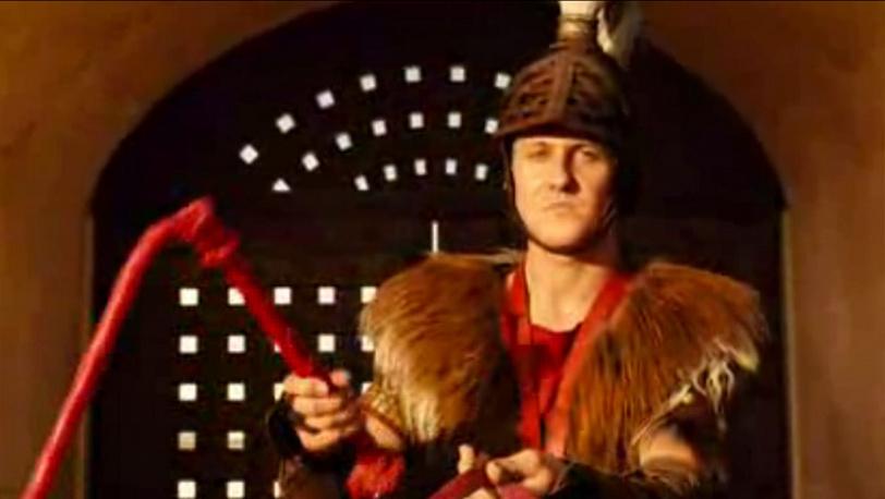 "В роли погонщика колесниц. ""Астерикс на Олимпийских играх"" 2008 год"