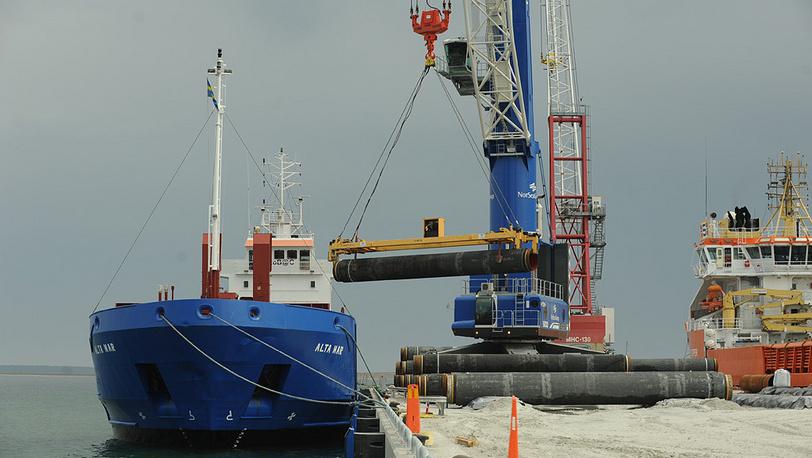 Остров Готланд, Швеция. Подготовка к прокладке труб газопровода по дну Балтийского моря. 2010 год