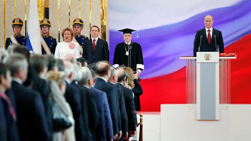Владимир Путин на церемонии инаугурации