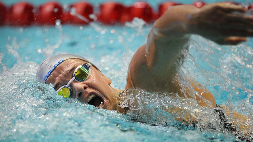 Виталина Симонова на дистанции 100 м вольным стилем