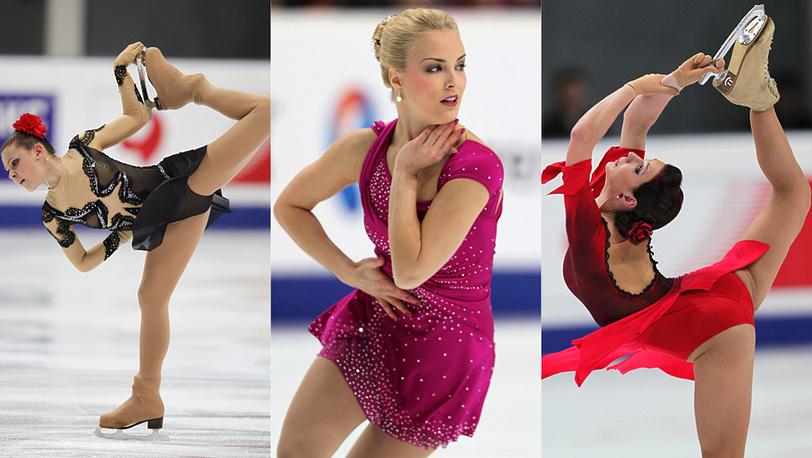 Слева направо: Аделина Сотникова, Киира Корпи (Финляндия), Алена Леонова