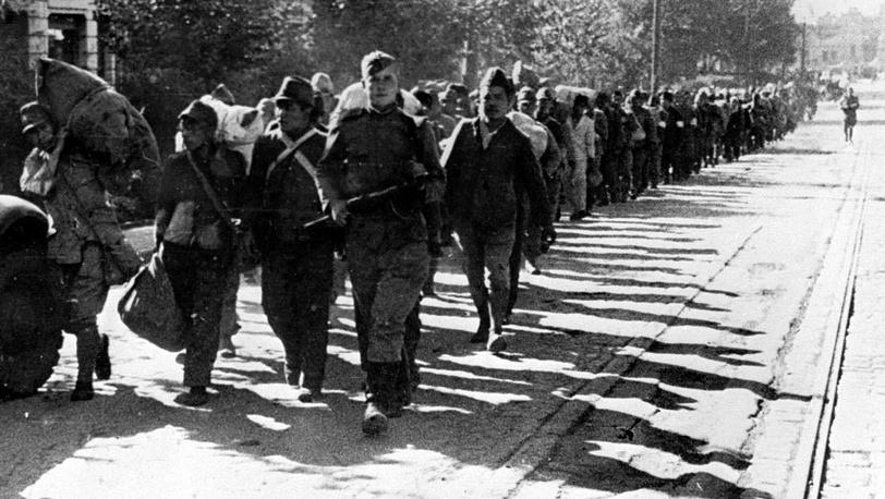 Японские пленные, Харбин. 1945. Фото ИТАР-ТАСС