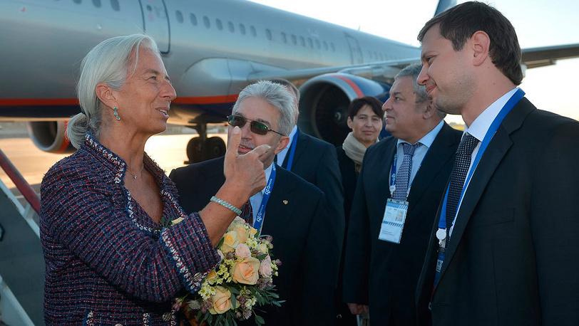 Директор-распорядитель МВФ Кристин Лагард. Фото EPA/VLADIMIR ASTAPKOVICH / POOL
