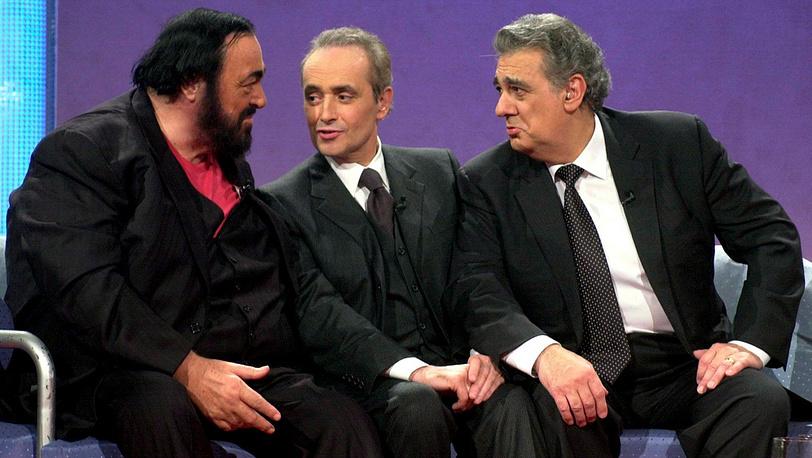 Лучано Паваротти, Хосе Каррерас и Пласидо Доминго. 2000 год. Фото EPA/DOMINIK PLUESS