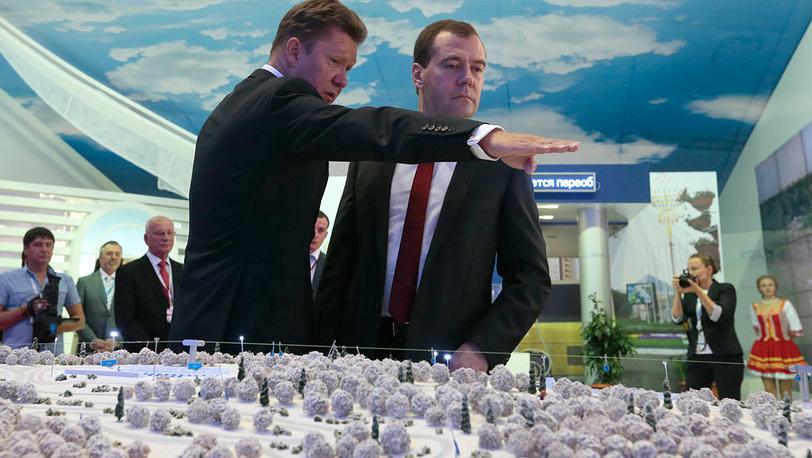 Алексей Миллер и Дмитрий Медведев. Фото ИТАР-ТАСС/ Михаил Метцель