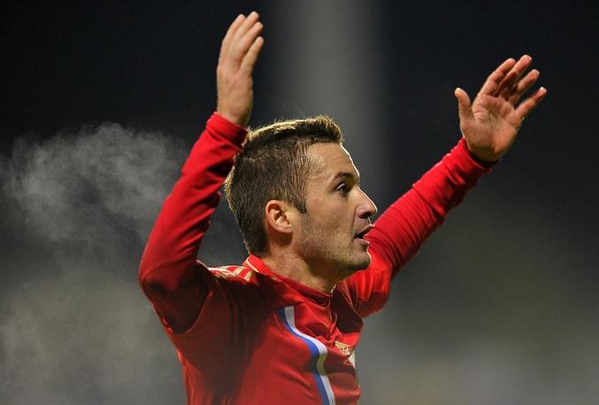 Автор второго гола в ворота команды Люксембурга Виктор Файзулин
