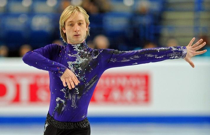 Евгений Плющенко на чемпионате Европы 2012 года. EPA/GERRY PENNY