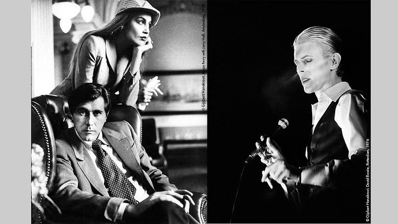 Брайан Ферри и Джерри Холл, 1976 г., Дэвид Боуи, 1976 г. Фото Гилберт Ханекроот