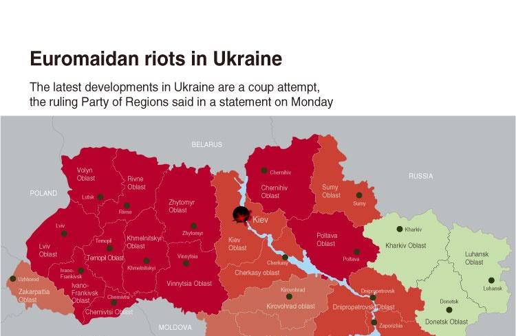 Euromaidan riots in Ukraine